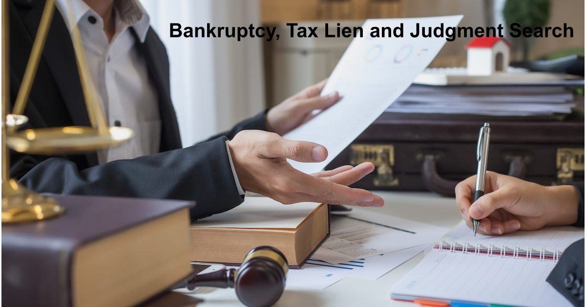 bankruptcy tax lien judgment search