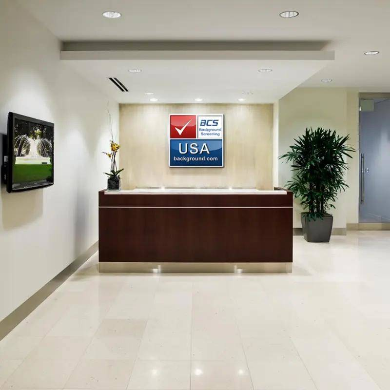 Background Checks Office Reception Area